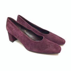 Bandolino Block Heels Purple Plum